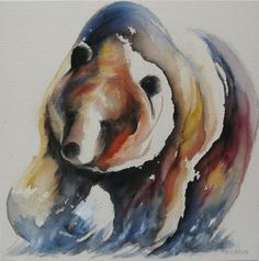 Watercolored Bear