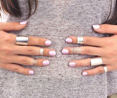 Galisfly Silver Stack Knuckle Ring Box