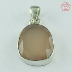 925 Sterling Silver Real Rose Quartz Stone Pendant P2632 _ Silvex Co _ INDIA #SilvexImagesIndiaPvtLtd #Pendant
