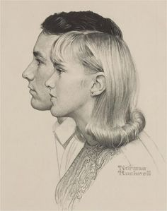 Drawing by Norman Rockwell