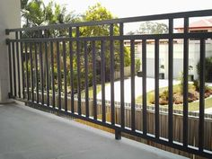 Colorbond fencing Adelaide is a famous form of fencing in Adelaide that gives you… Steel Railing Design, Modern Stair Railing, Staircase Handrail, Stairs, House Gate Design, Door Gate Design, Fence Design, Wrought Iron Porch Railings, Front Porch Railings