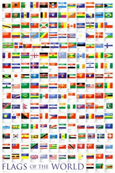 $5.99 Flags of the World Poster