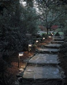 When designing your backyard, don't forget to carefully plan your lighting as well. Get great ideas for your backyard oasis here with our landscape lighting design ideas. Stairway Lighting, Driveway Lighting, Walkway Lights, Exterior Lighting, House Lighting, Tree Lighting, Kitchen Lighting, Concrete Garden Edging, Landscape Lighting Design