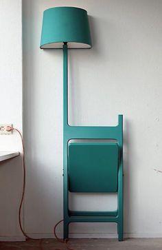 The Poets folding chair and lamp - design Nieuwe Heren www.nieuweheren.com