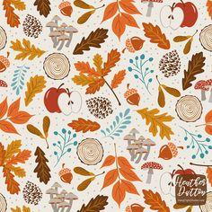 Autumn Woods Art Print by Heather Dutton - X-Small Halloween Wallpaper Iphone, Fall Wallpaper, Halloween Backgrounds, Wallpaper Backgrounds, Illustrator, Autumn Illustration, Fall Patterns, Autumn Art, Autumn Prints