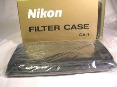 Mint Genuine Nikon Filter Case (Black) CA-1 W/ Packaging & Box NR #Nikon