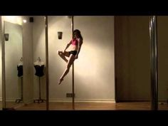 Intermediate and Advanced Pole Tricks - YouTube (first mount/hang, side climb, hands-free cupid, cross ankle release and pieces, should mounts, super girl, fang, hip hold -> jade, etc)