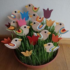 Wooden Decor, Wooden Crafts, Clay Crafts, Diy And Crafts, Crafts For Kids, Wooden Bird, Wood Projects That Sell, Diy Wood Projects, Wood Yard Art