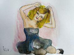 Emma Watson Watercolor Drawing Video