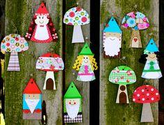 Garden Gnome and Mushroom Banner Craft Kit - springtime crafts!