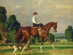 Sir Alfred Munnings Miss Ruth Brady on Bugle Call
