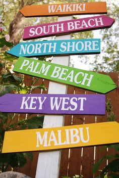 Beach Destination Directional Arrow Signs Make One Or