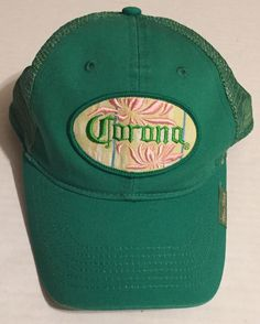 0380ca23c16 Corona Snapback Hat Green Tropical Mas Fina Hencho En Mexico Womens