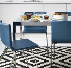 IKEA TORSBY dining table with BERNHARD chairs