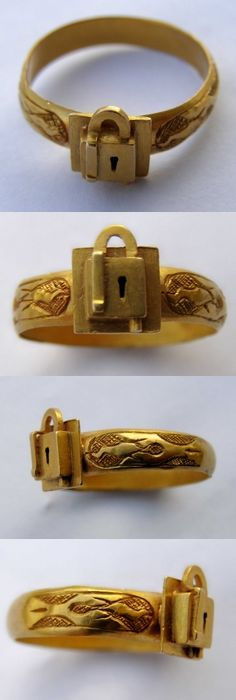 Gold finger ring, Europe, 15th century.