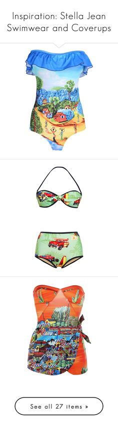 """""""Inspiration: Stella Jean Swimwear and Coverups"""" by skeletorsmom ❤ liked on Polyvore featuring swimwear, one-piece swimsuits, blue, blue one piece swimsuit, 1 piece swimsuit, blue bathing suit, ruffle bathing suit, strapless swimsuits, bikinis and swimsuit"""