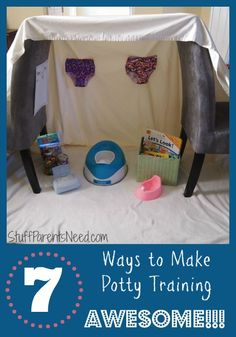 7 ideas to help get your child more interested in potty training.