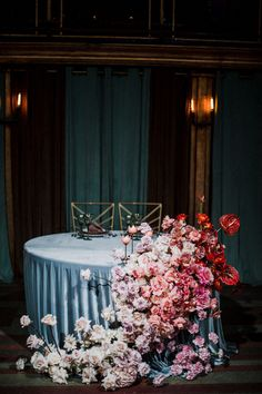 Life as a theater Romantic Wedding Receptions, Nontraditional Wedding, Wedding Events, Weddings, Wedding Chairs, Wedding Table, Sweetheart Table Decor, Bridal Table, Centerpieces
