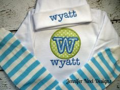 Personalized Take Home Outfit, Home From Hospital,  Gown, leg warmers, Hat Set, Boys Coming Home Outfit, Newborn Gown, Monogrammed