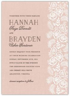 We absolutely love the lace & simplicity of the Country Lace Invitations. Perfect for any country-rustic wedding! #wedding #weddinginvitations #weddingstationery #weddingstamps #savethedates #inexpensivewedding #wedding #weddingthankyous