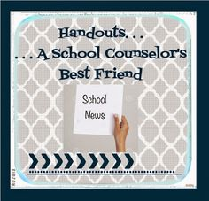 The Middle School Counselor: Handouts.A School Counselor's Best Friend School Counselor Office, High School Counseling, Elementary School Counselor, School Social Work, Counseling Office, Career Counseling, Elementary Schools, Professional Counseling, School Office