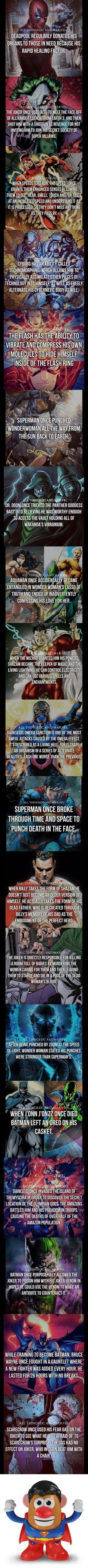 Some superhero/supervillain facts - 9GAG