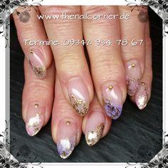 Foil  #nails #gold #bling