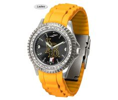 The Sparkle AnoChrome Long Beach State 49ers Watch is available in a Ladies style. Showcases the 49ers logo. Color-coordinated silicone band. Free Shipping. Visit SportsFansPlus.com for Details.