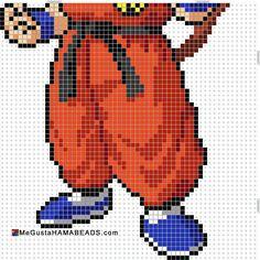 Dragon Ball Z, Pixel Dragon, Goku Saiyan, Modele Pixel Art, Pixel Art Grid, Pixel Art Templates, Minecraft Pixel Art, Tapestry Crochet, Son Goku