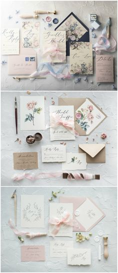 Most beautiful calligraphy wedding invitations completely customized with your details and colors #wedding