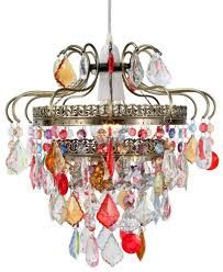 Bohemian Luxury Chandelier w/Colored Crystals