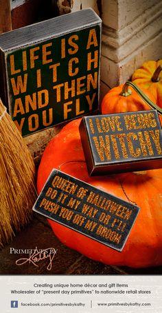 Halloween Decor. Box Signs.