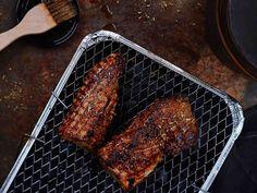 Appelsiinimaustettu porsaanfilee Grill Pan, Pork, Meat, Kitchen, Griddle Pan, Kale Stir Fry, Cooking, Pigs, Kitchens