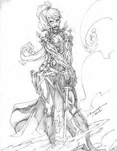 Zealot by Brett Booth Comic Book Artists, Comic Artist, Comic Books Art, Art Sketches, Art Drawings, Comic Pictures, Comic Pics, Brett Booth, Comic Book Drawing