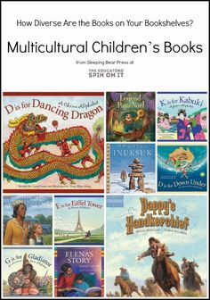Celebrating Diversity in Children's Literature includes Tips for the Importance of having Diverse Books on your book selves at home.