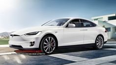 Tesla Model 3 Render in white