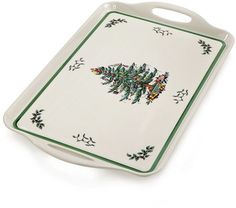 Spode Christmas Tree Large Handled Tray, Created for Macy's