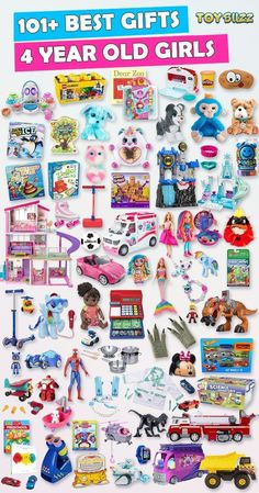 Browse our Gift Guide featuring 300+ Best Gifts For Girls. Discover educational toys, unique kids gifts, kids games, kids books, and more for your 4 year old girl. Make her Birthday or Christmas extra magical with these delightful picks she'll love! #giftguide #birthdaygifts #christmasgifts #giftideasforkids