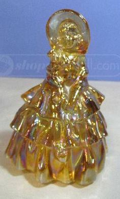 shopgoodwill.com: Fenton Carnival Glass Girl In Bonnet Figurine
