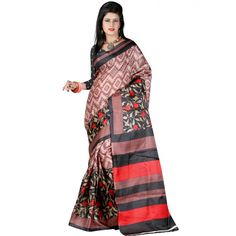 Good-looking Multi Color Bhagalpuri Silk Printed Saree at just Rs.399/- on www.vendorvilla.com. Cash on Delivery, Easy Returns, Lowest Price.