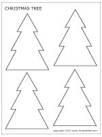 Download the small Christmas tree template