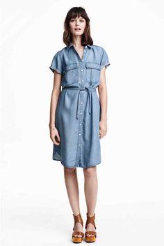 Vestido camiseiro de lyocell | H&M