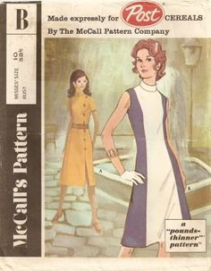 Post promotional dress sewing pattern McCalls 2754 back zipper dress S10 $9.99 or offer