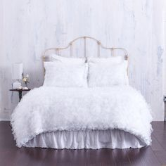 Shabby+Chic+Bedding+Created+with+Pure++White+by+CloudHunterCo,+$355.00