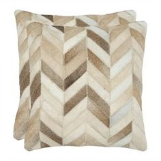 Safavieh Marley 18-inch Decorative Pillows in Tan (Set of 2)