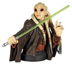 Gentle Giant Studios Star Wars: Kit Fisto Mini-Bust by Gentle Giant Studios. $61.22. Numbered with matching certificate of authenticity. Cold-cast, high-quality polystone. A gentle giant release. Hand painted. Depicts the heroic jedi council member. From the Manufacturer                A Gentle Giant Release. Maintaining peace throughout the galaxy. Kit Fisto was a member of the Jedi council and one of the few survivors of the Battle of Geonosis. This limited edition Kit F...