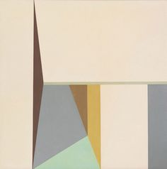 Helen Lundeberg, By the Sea II, 1962, oil on canvas, 50 x 50 inches