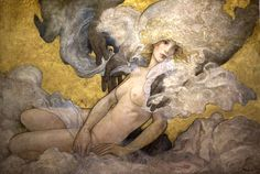 """Danae"" original oil by Rebecca Guay | R. Michelson Galleries.- Sold"