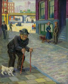 Willem Hendrik van Norden (1883-1978) Figures in a street, oil on canvas 50 x 39.9 cm, signed lower right. Collection Simonis & Buunk, The Netherlands.