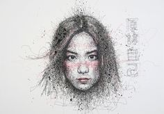 Simply Scribbly exhibition in Singapore by Vince Low, via Behance